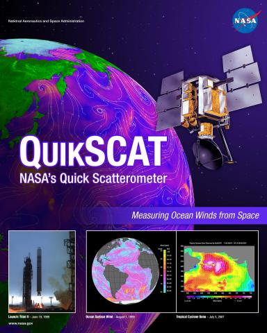 QuikSCAT Mission Poster