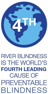 river blindness is the world's fourth leading cause of preventable blindness