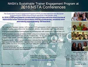 "Thumbnail of PowerPoint slide entitled ""NASA's Sustainable Trainer Engagement Program at 2016 NSTA Conferences"""
