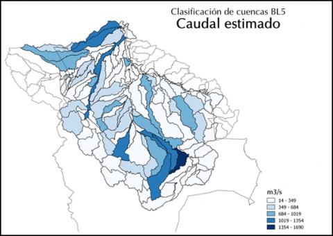 Precipitation map of the Amazon River basis