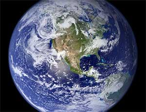 Earth blue marble photo