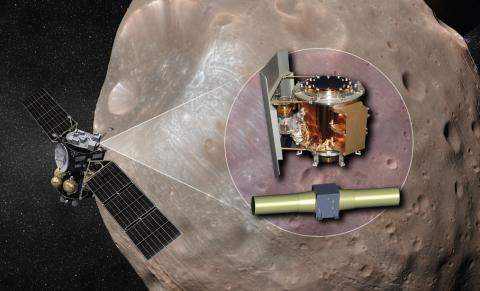 Artist concept of the MMX probe