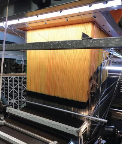 Photo of heatshield weaving process