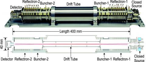 Technical diagram of MASPEX instrument