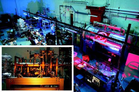 Photo of dust accelerator setup in laboratory