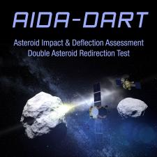 Illustration of AIDA-DART mission spacecraft
