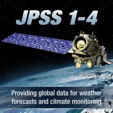 Illustration of JPSS satellite in orbit over earth