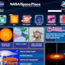 Screenshot of SpacePlace website