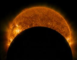 Image of solar eclipse from January 2014