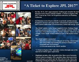 "Thumbnail of PowerPoint slide entitled ""A Ticket to Explore JPL 2017"""