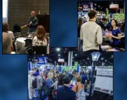 Collage of three photos from the 2018 National Science Teachers Association Conference