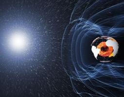 Artist's rendition of Earth's magnetic field lines. Currents of particles flowing on these lines are one of the key ways energy transfers from space to Earth's atmosphere.
