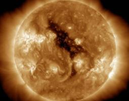 Coronal holes on the sun