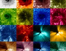 Collage of different colored wavelengths
