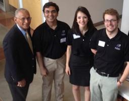Administrator Bolden posing with MinXSS students in 2014