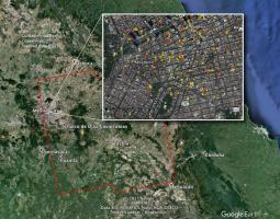 Satellite image of earthquake damage in Mexico