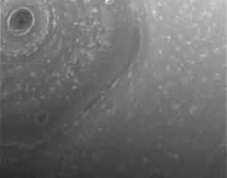 view of outer edges of Saturn's main rings from NASA's Cassini spacecraft