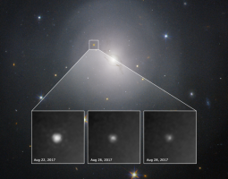 Hubble observations of neutron star collision in NGC 4993