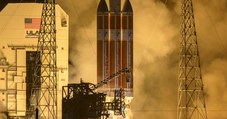 The United Launch Alliance Delta IV Heavy rocket launches NASA's Parker Solar Probe to touch the Sun, Sunday, Aug. 12, 2018.