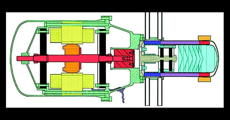 Illustrated cross-section of technology demonstration convertors