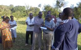 Photo of Kenya people doing fieldwork training for remote sensing