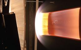 Testing of HEEET material at the NASA Ames Arc Jet Complex in the Interaction Heating Facility.