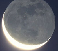 "Watch ""Da Vinci Glow"" On Moon At Sunset This Week Earthshine"