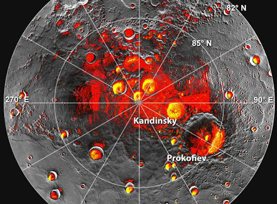 Image result for New Evidence for Ice on Mercury