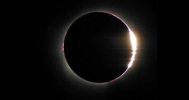 Photo of moon eclipsing sun