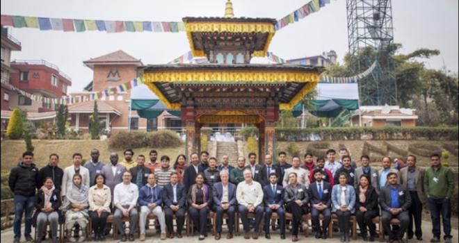 Photo of group of people in Nepal