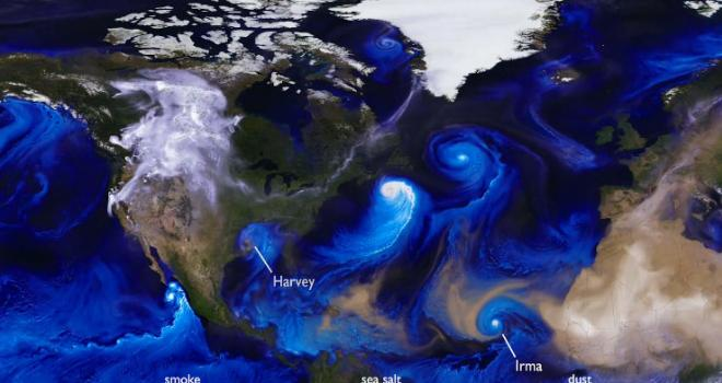Visualization of hurricanes throughout the oceans