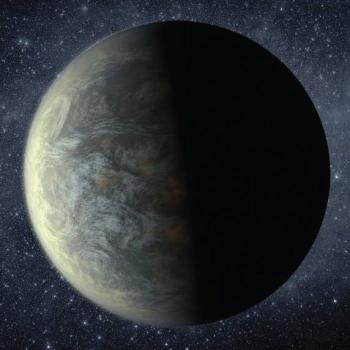 Artist rendition of an exoplanet