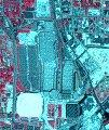 infrared picture of downtown Atlanta