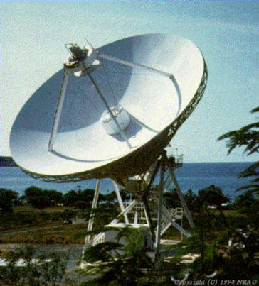 one of the VLBA radio telescopes (St Croix, Virgin Islands)