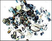 space-grown thaumatin crystals