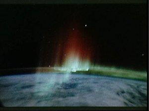 Aurora Australis seen from shuttle