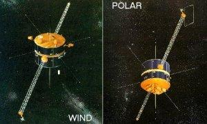 artist's conceptions of Polar and Wind spacecraft