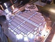 aerogel dust collector under construction