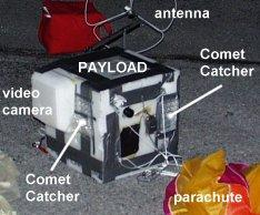 the recovered balloon payload at the Chattanooga Airport