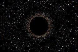 artist's concept of a black hole
