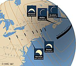 partial eclipse map, copyright Sky & Telescope