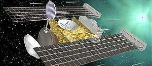 artist's concept of STARDUST near comet Wild-2