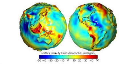 Earth's Gravity Field Anomalies