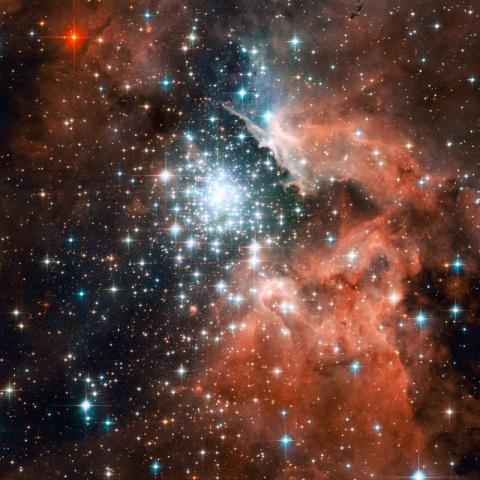 Star Cluster in Nebula NGC 3603