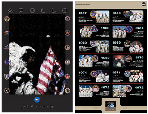 Apollo images on 40th Anniversary Poster