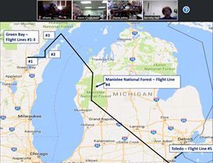 Google Map of SnowEx Flight Plan for local region