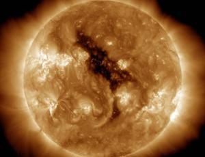 Coronal holes on the sun