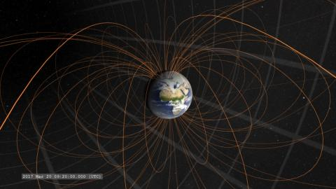 Artist rendition of the magnetosphere