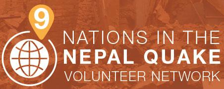 9 Nations in the Nepal Quake volunteer network