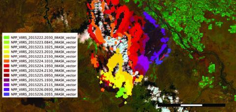 Satellite image of burn data